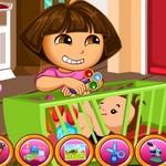 لعبة دورا رعاية الطفل