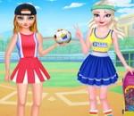 لعبة تلبيس بنات ملابس كرة القدم